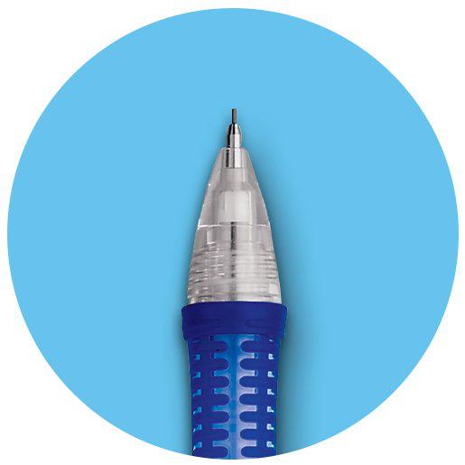 Gel pen with rubber grip tip