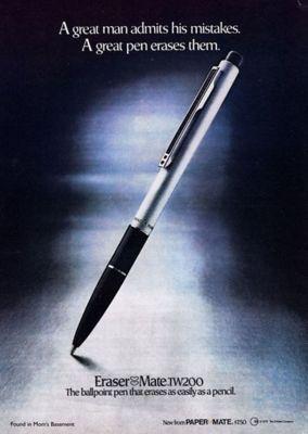 papermate-erasable-pens-launch-1979